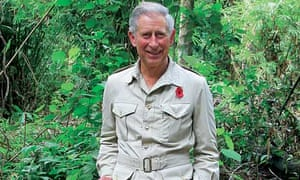 Prince Charles in the Indonesian rainforest