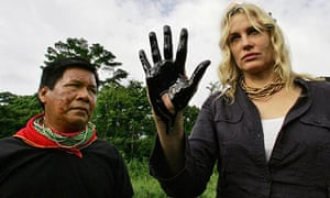 Daryl Hannah in the Ecuadorean Amazon