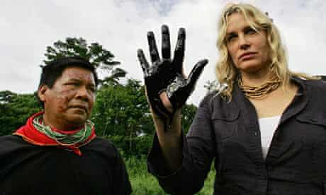 Daryl Hannah in the Ecuadorean Amazon