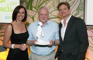 Ethical Awards: Lucy Siegle, David Attenborough and Colin Firth