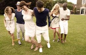 sports day fashion: The three-legged race