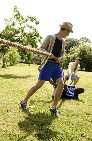 sports day fashion: The tug of war