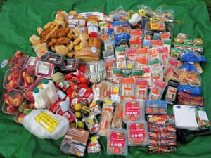 Food waste: The contents of the bins of a village Co-op
