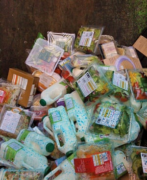 Food waste: Contents of the bins of a Marks & Spencer