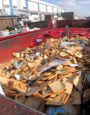 Food waste: discarded fresh bread