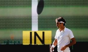 Roger Federer using Hawk-Eye