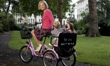 Mariella Frostrup on her tricycle