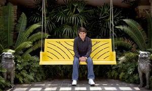 Dean Koontz in his garden