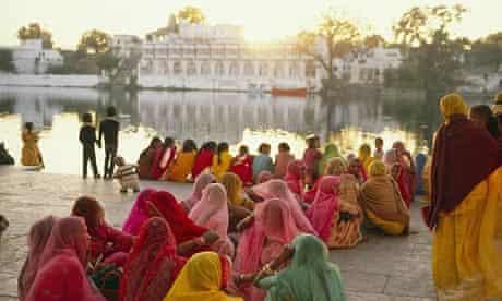 Women Socializing at Lake Pichola in India