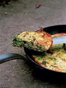 frittata of basil and summer squash