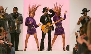 Prince performs at London Fashion Week