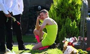 Barry Delaney at Kevin Elliott's funeral
