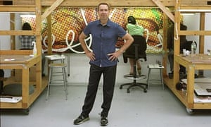 Jeff Koons in his New York studio