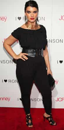 Crystal Renn at a fashion show