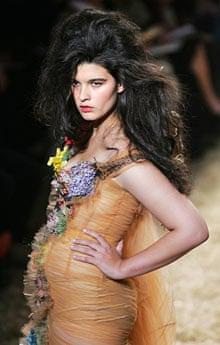 Crystal Renn modelling for Jean-Paul Gaultier