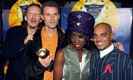 M People at the 1994 Mercury Prize ceremony