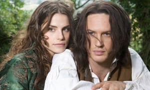 Charlotte Riley and Tom Hardy in ITV1's Wuthering Heights.