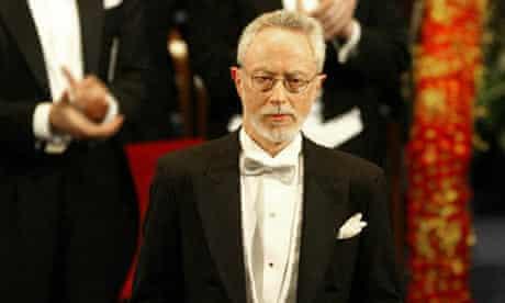 JM Coetzee with his Nobel prize
