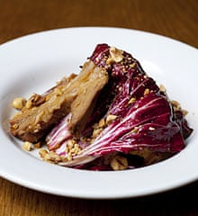 Polpo's pork belly with hazelnuts