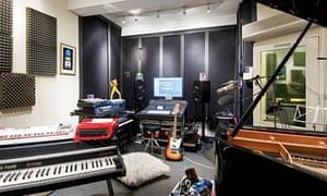 Jamie Cullum's studio