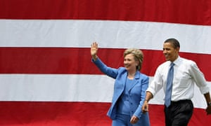 Barack Obama And Hillary Clinton Appear In First Joint Campaign Event