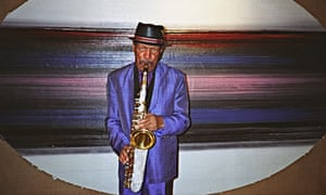 Ornette Coleman at home