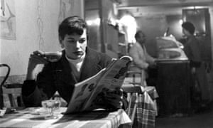Katharine Whitehorn in a London cafe in 1956