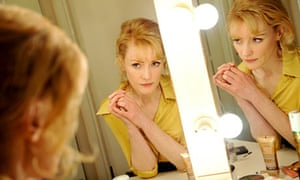 Claire Skinner in her dressing room