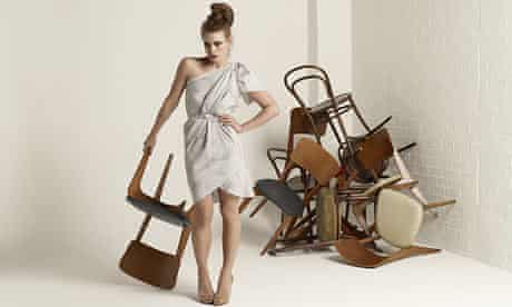 Billie Piper and chairs