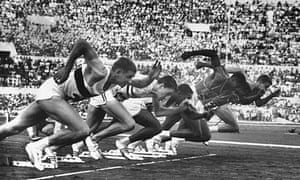The Olympic 100m final in Rome, 1960