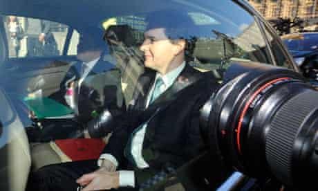 George Osborne leaving Parliament after the spending review