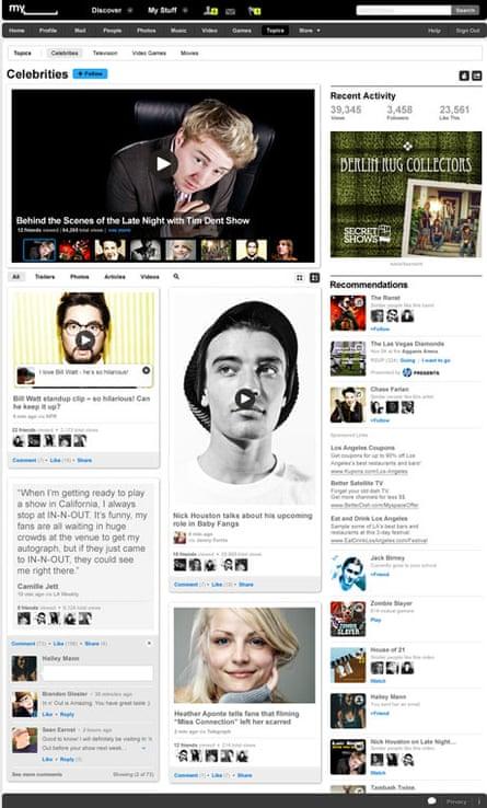 Myspace's new look