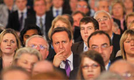 David Cameron at the Conservative conference