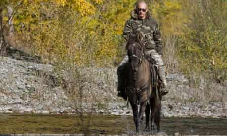 Vladimir Putin on horse