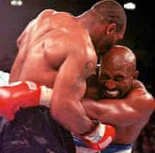 Tyson bites Evander Holyfield