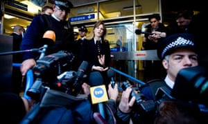 Jemima Khan leaves Horseferry Road magistrates court