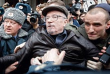 Eduard Limonov being arrested