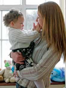 Lorraine Reid with daughter Keira