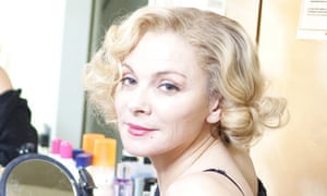 Kim Cattrall in her dressing room at the Vaudeville Theatre, where she's starring in Private Lives.
