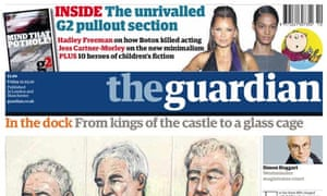 The Guardian front page for February ABCs