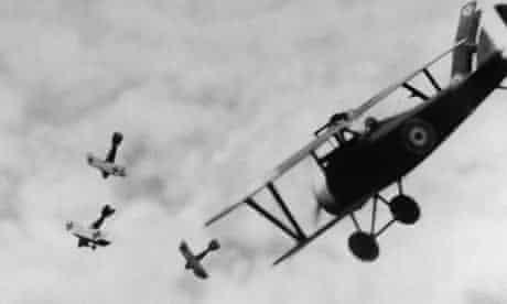 WWI British Bi-Plane Fighting Germans
