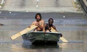 Survivors of hurricane Katrina, 31 August 2005.