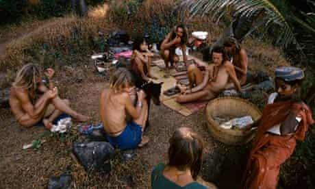 Hippies on Vagator beach, Goa