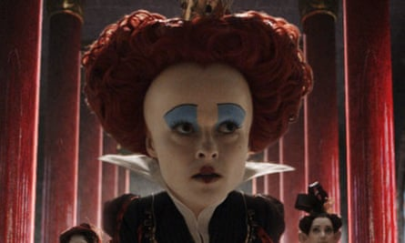 Helena Bonham Carter as the 'ugly, oppressive' Red Queen in Alice in Wonderland