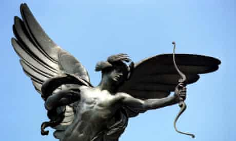 Eros Statue in Piccadilly Circus, London, Britain