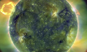 The sun is seen in this image released by NASA