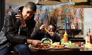 Chipmunk, left, and Tinchy Stryder photographed in Nando's