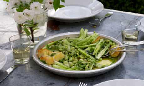 green panzanella