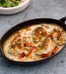 Chicken with mustard and crème fraiche