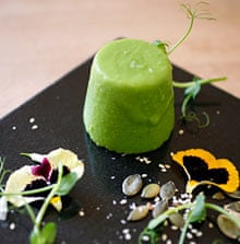 The Milestone's pea panna cotta